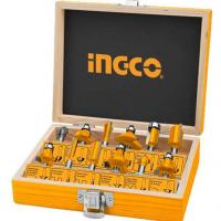 6mm Bộ 12 mũi phay gỗ INGCO