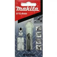 10.4x34mm Mũi lã 3 lưỡi cắt thép gió HSS M5 chuôi lục giác Makita